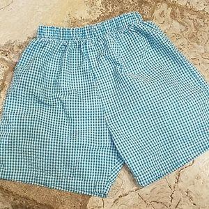 Other - Boys teal Seersucker shorts